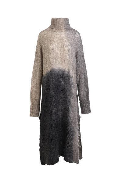 Kleid Rabens Saloner in grau mit beige - Bild 1